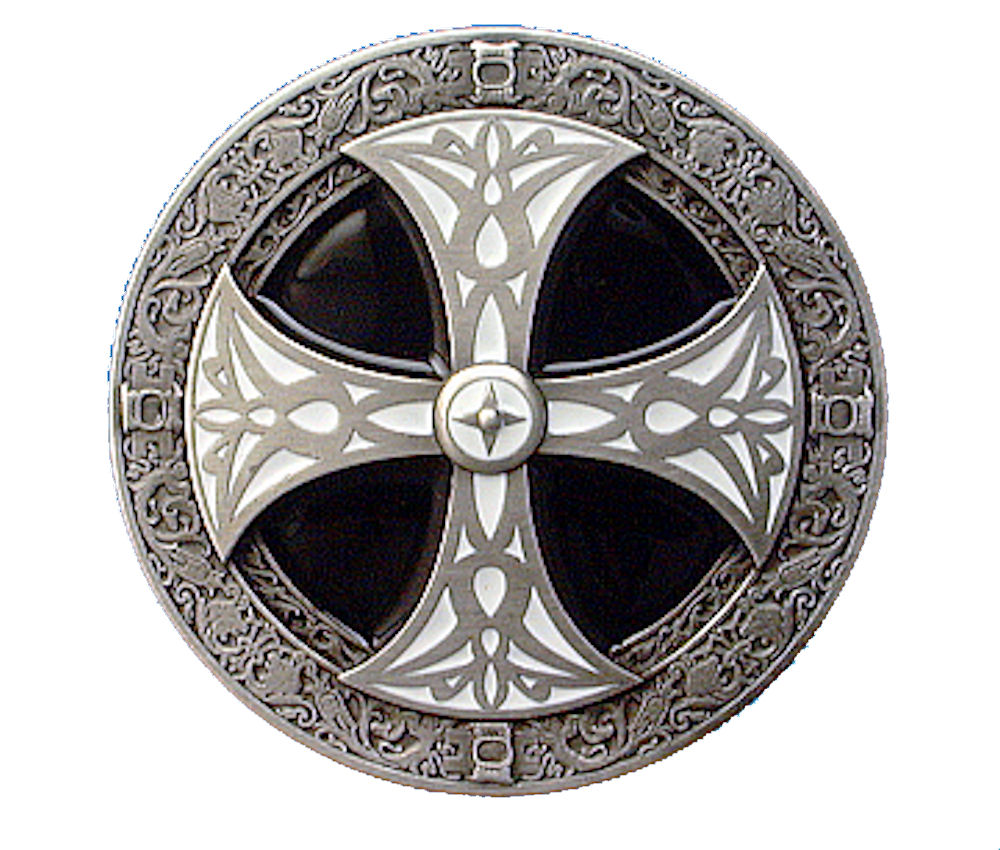 Norse Cross - black - white Belt Buckle