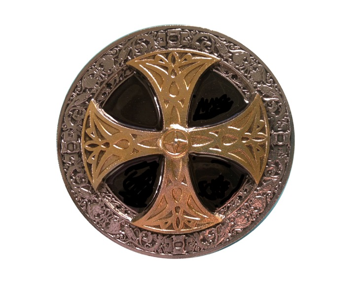 Celtic Cross Black And Gold