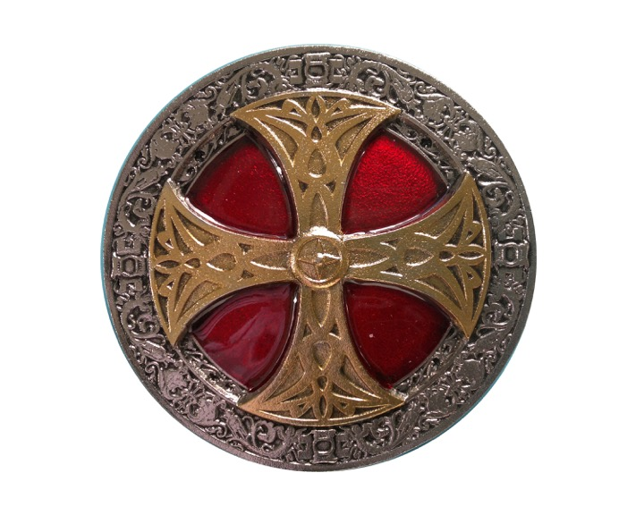 Celtic Cross Red And Gold