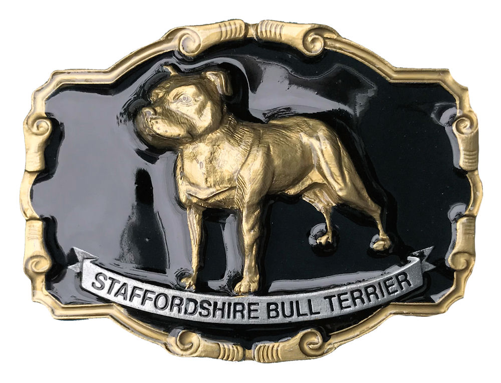 Staffordshire Bull Terrier  Black & Gold Range
