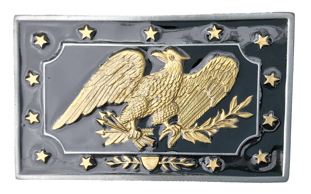 Civil War Belt Plate 1850 Black & Gold Range