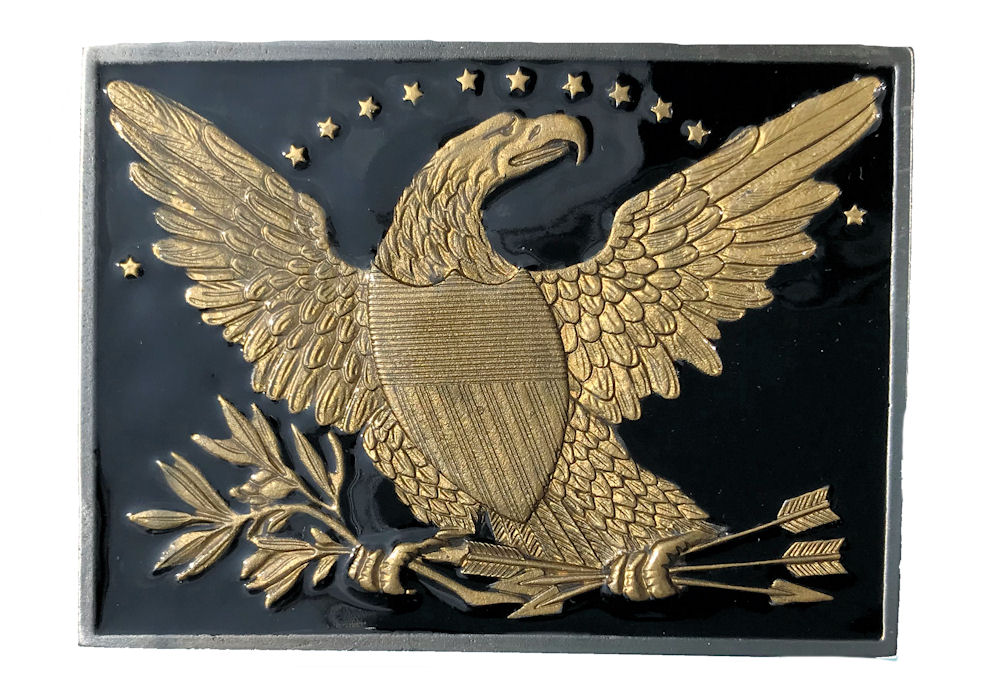 Cavalry 1840 Belt Plate Black & Gold