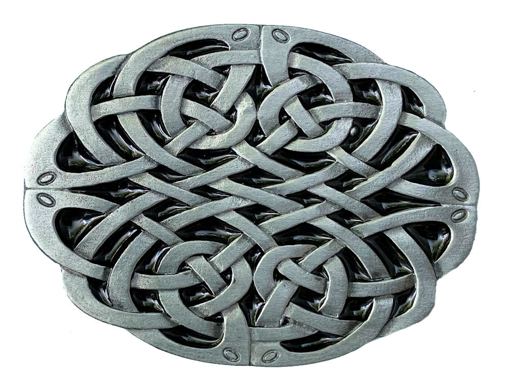 Celtic Oval Design Belt Buckle