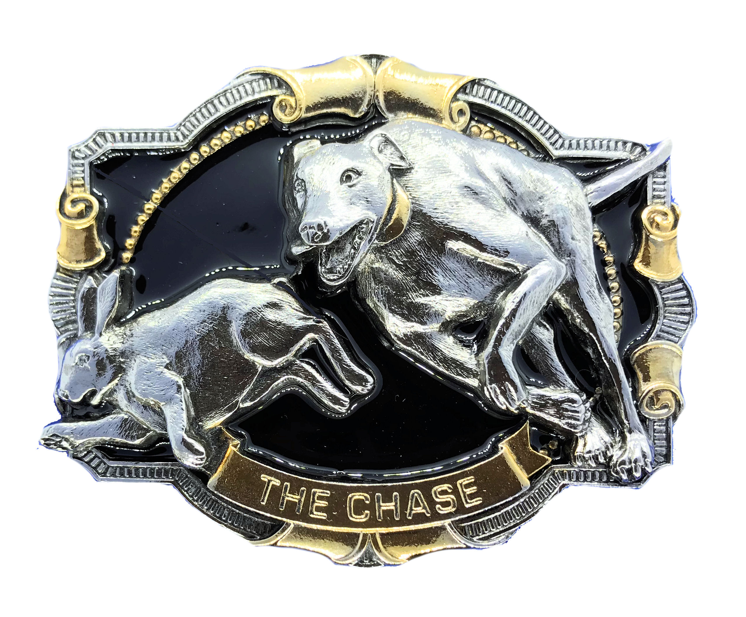 The Chase Lurcher Gold & Silver Plated Colour