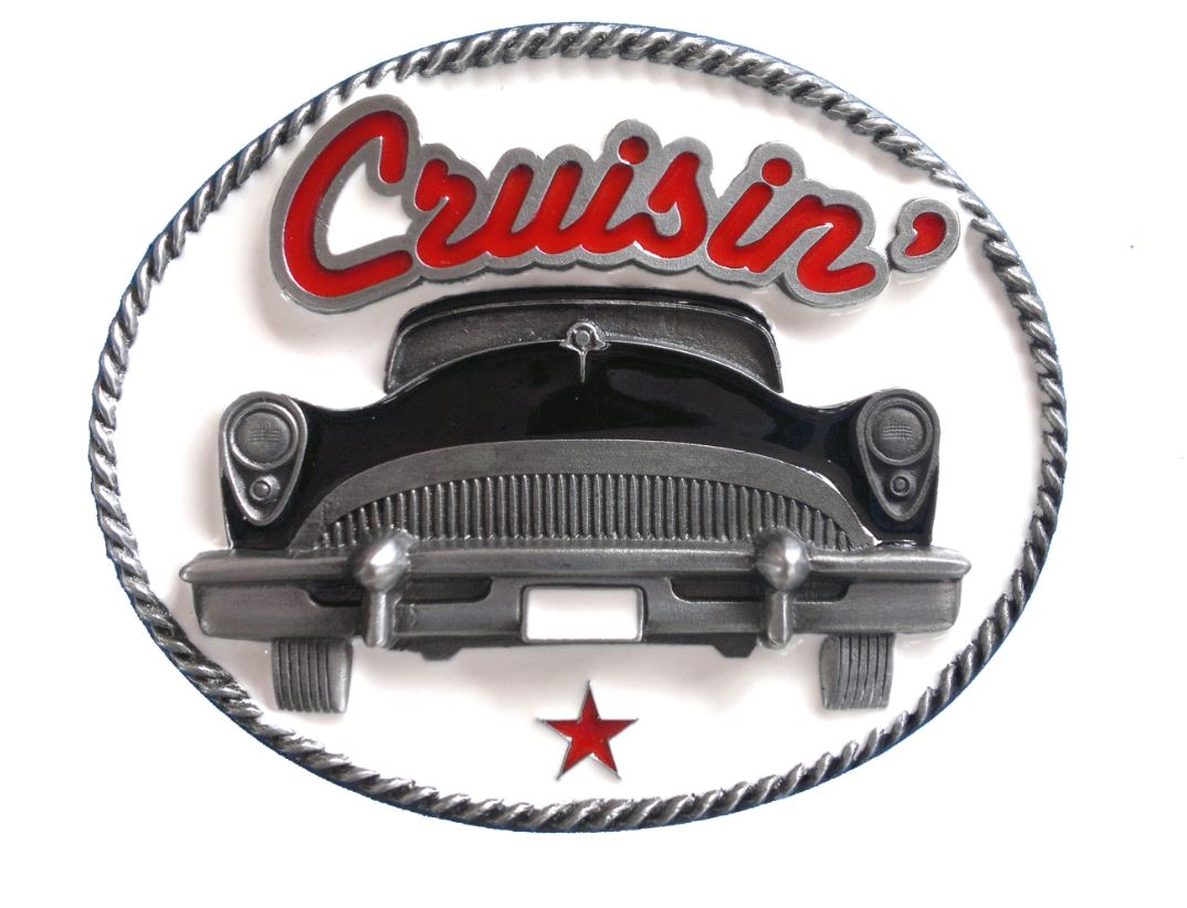 Crusin Car (black) Belt Buckle
