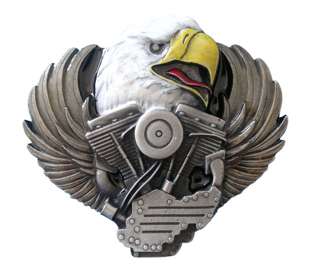 Eagle Head on Engine Belt Buckle