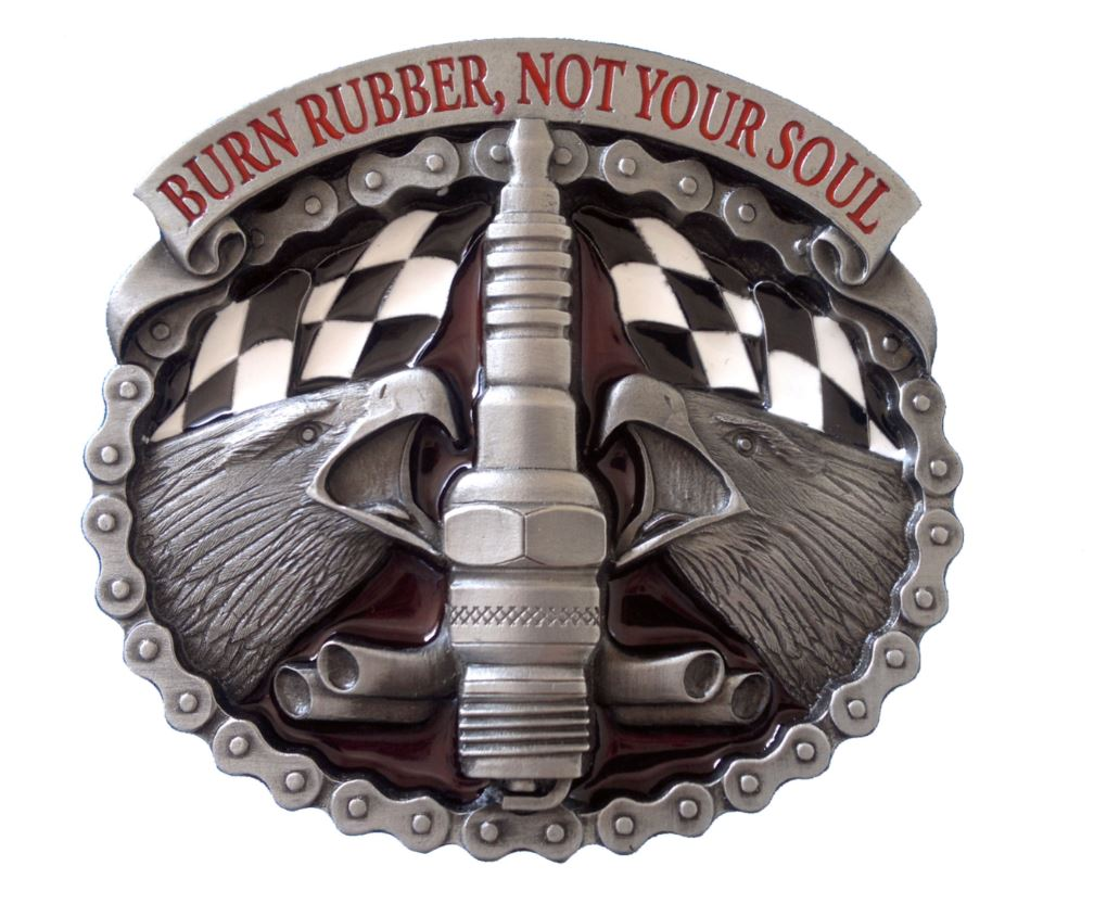Burn Rubber Belt Buckle