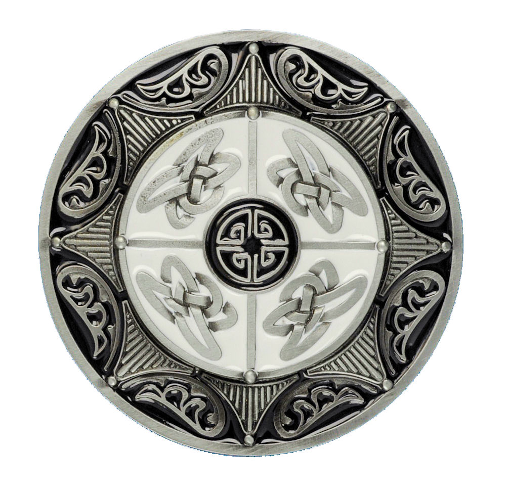 Celtic Round 8 Point Star Black Belt Buckle