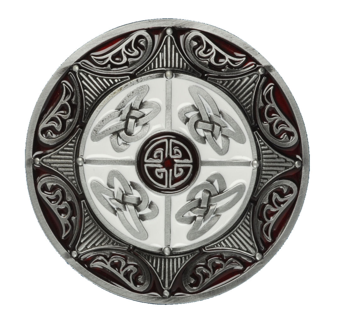 ROUND CELTIC 8 POINT STAR RED