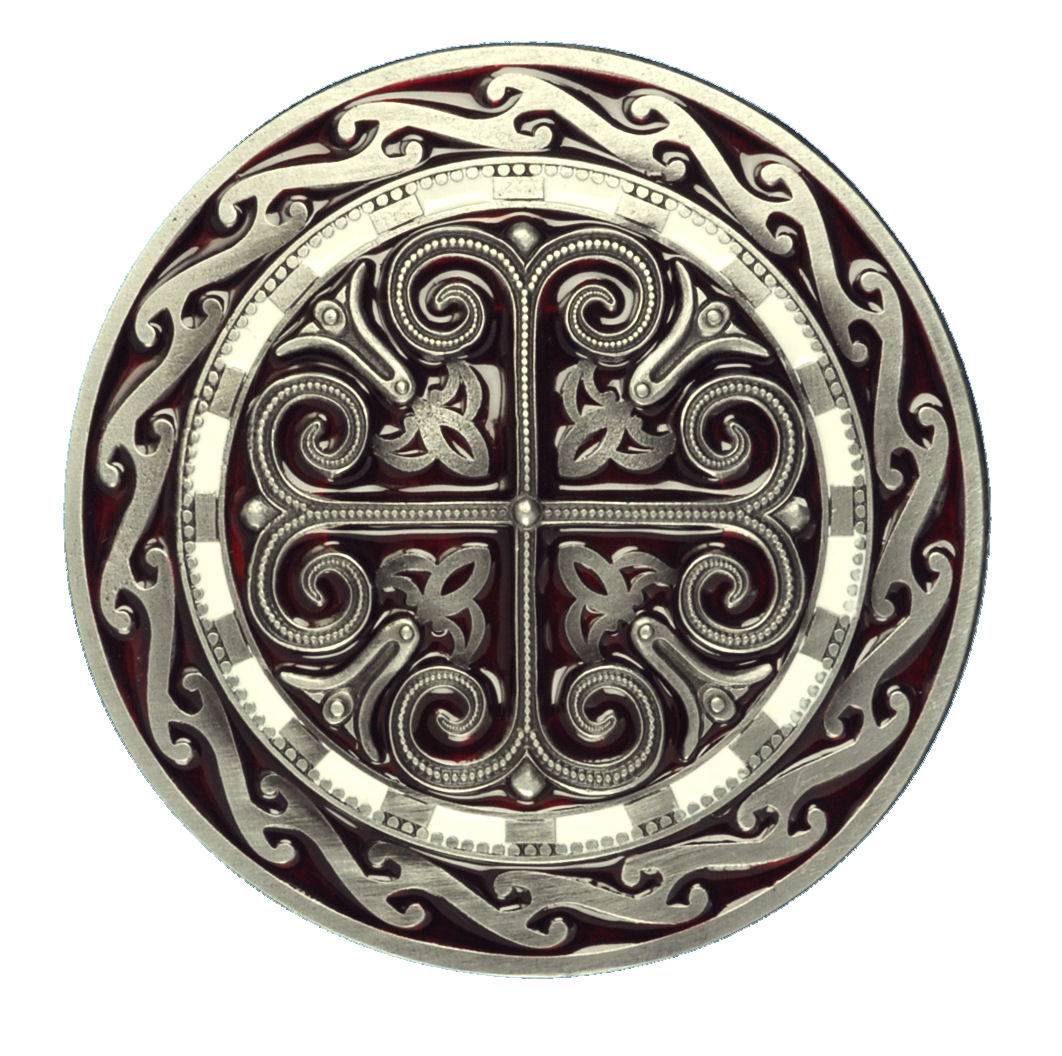 Celtic Round Cross Design Belt Buckle