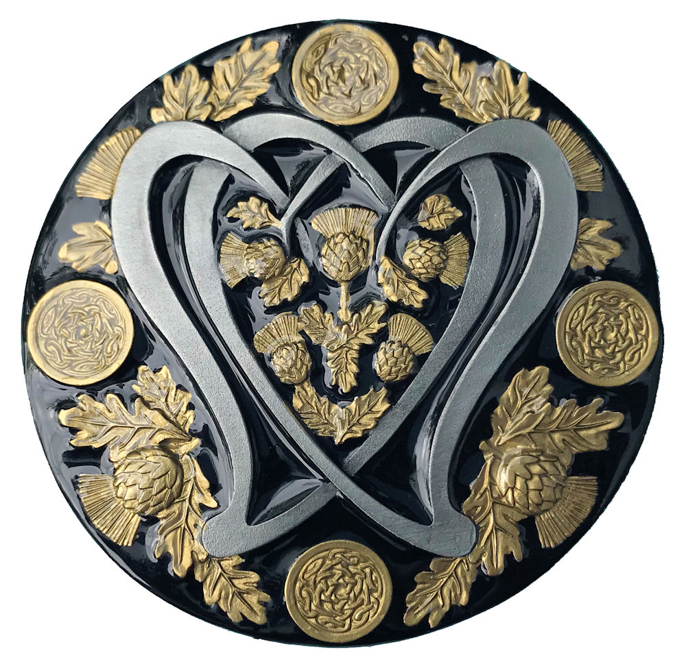 Round Celtic Thistle Black & Gold Range