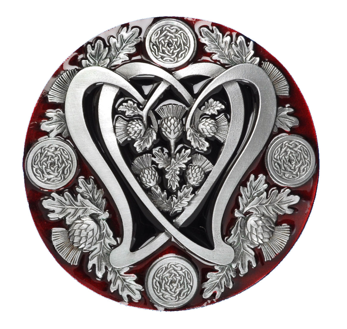 Round Celtic Thistle Belt Buckle