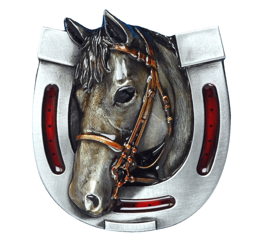 Horse Head and Shoe Belt Buckle