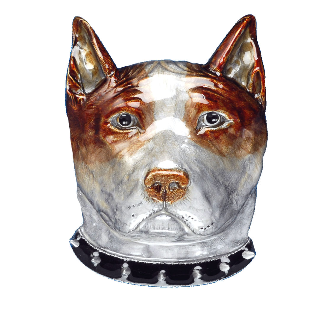 Bull Terrier Dog Head Belt Buckle