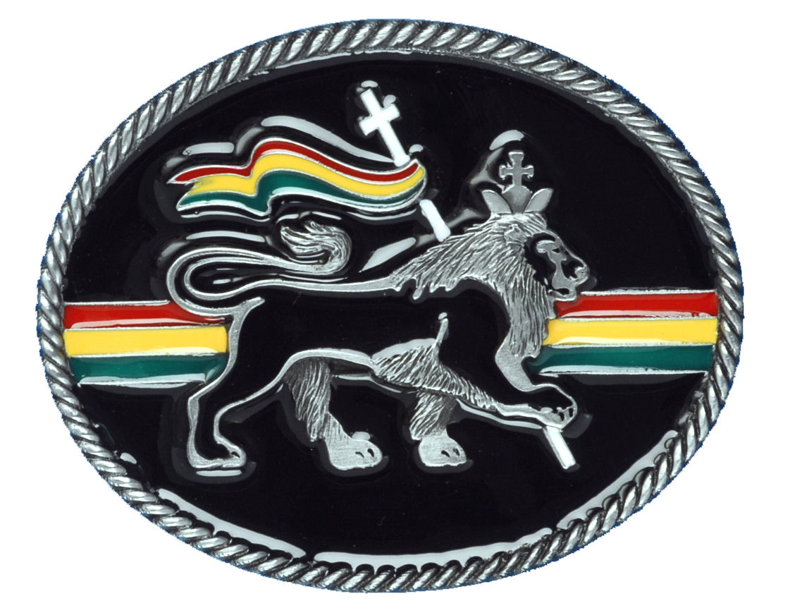 Rasta Lion Belt Buckle