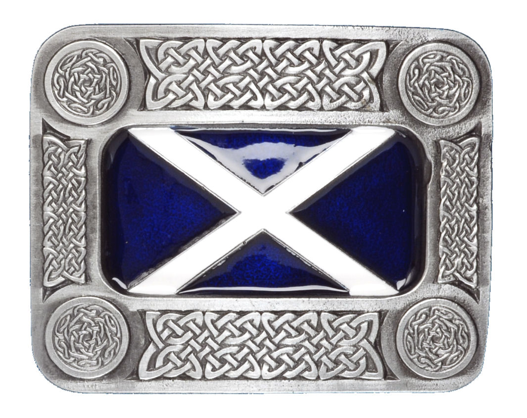 Scottish Flag Belt Buckle