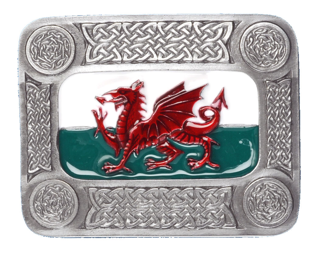 OBLONG WELSH DRAGON