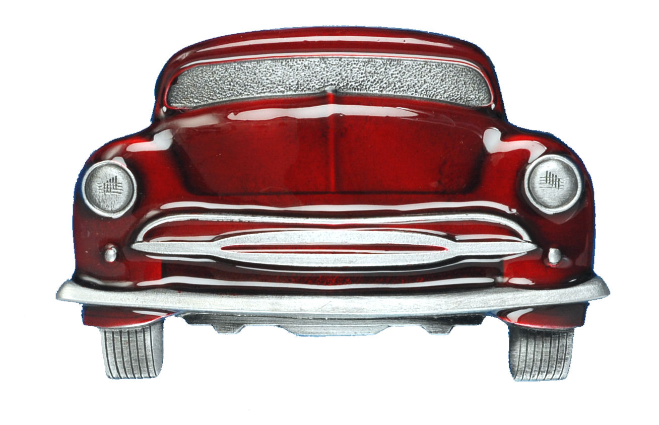Car Belt Buckle Red