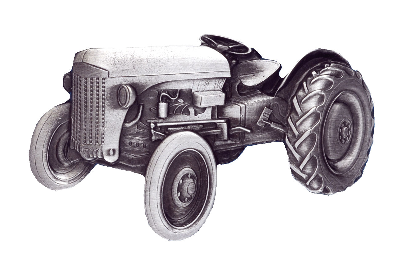 Tractor Grey Belt Buckle