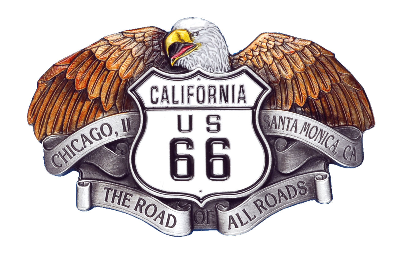 US 66 Eagle Belt Buckle
