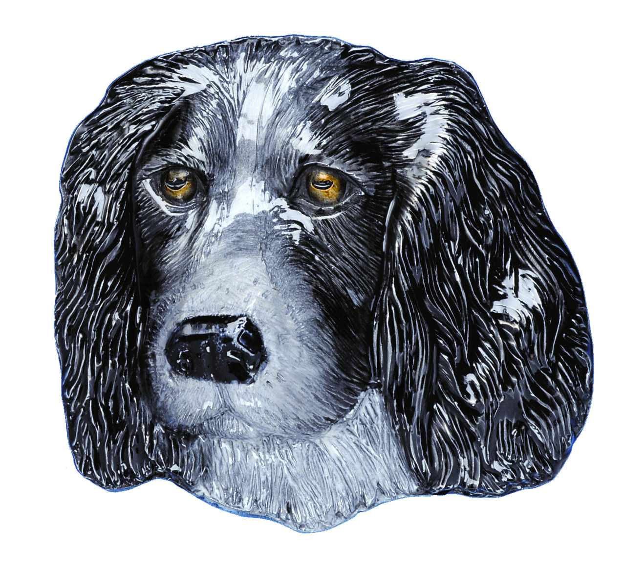 Spaniel Dog Head Belt Buckle