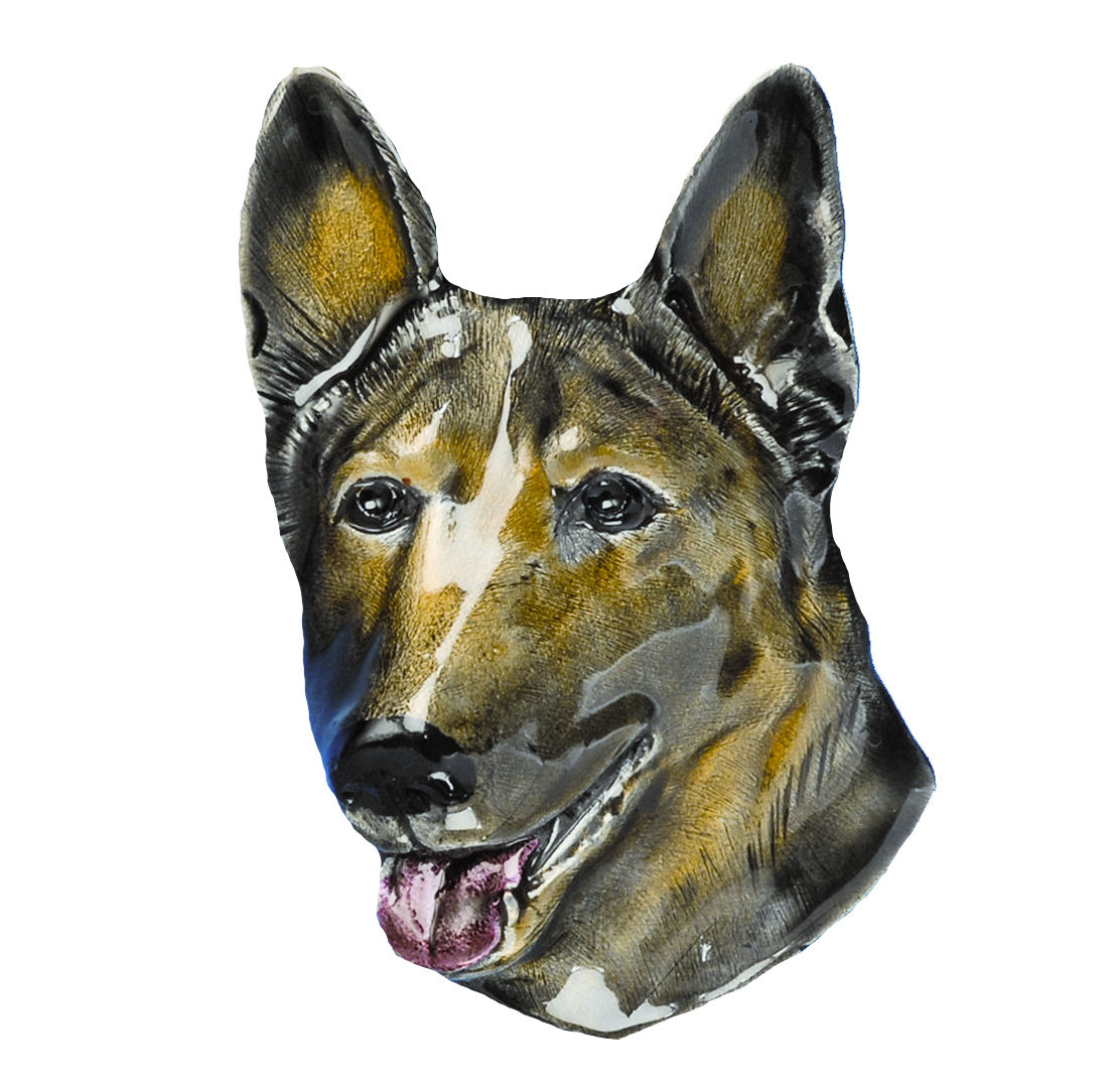 Alsation Dog Head Belt Buckle