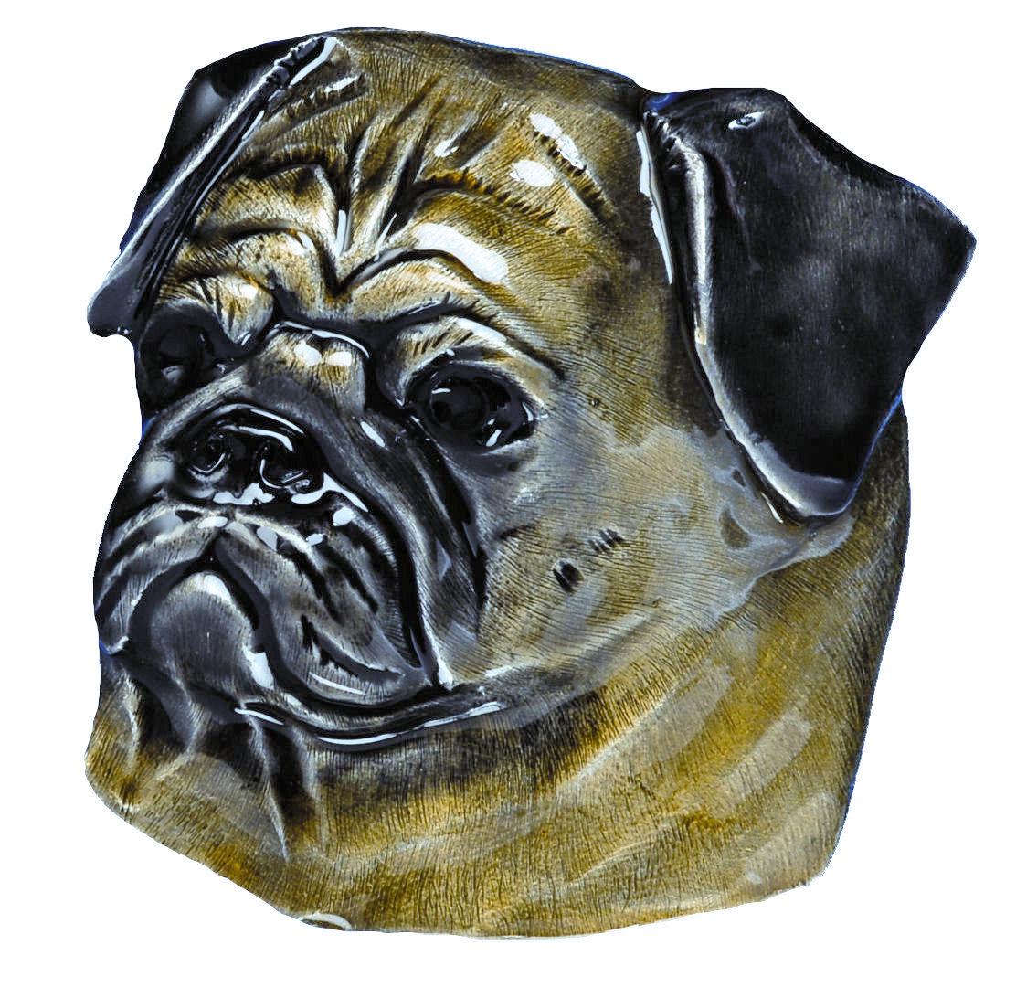 Pug Dog Head Belt Buckle