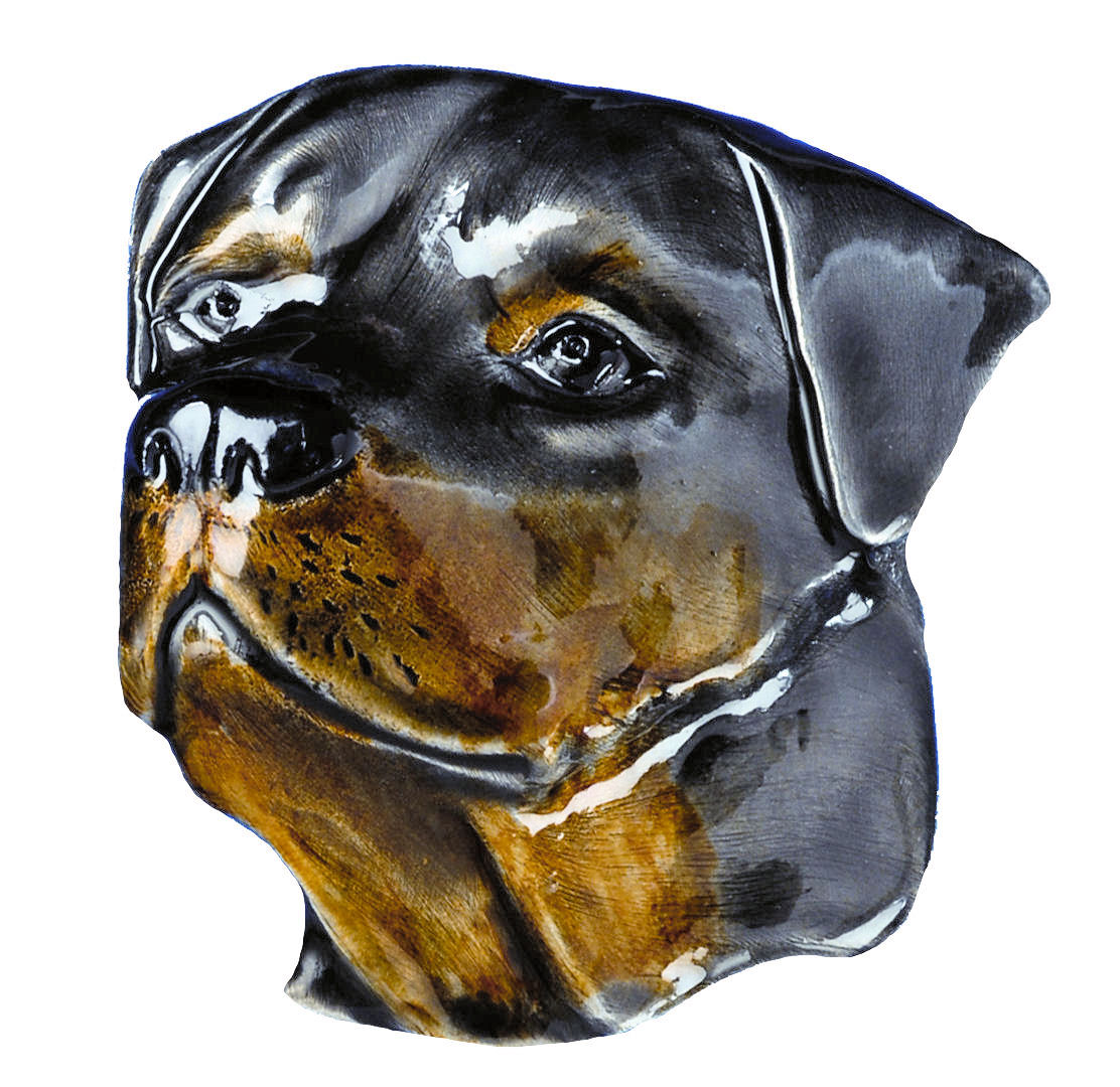 Rottweiler Dog Head Belt Buckle