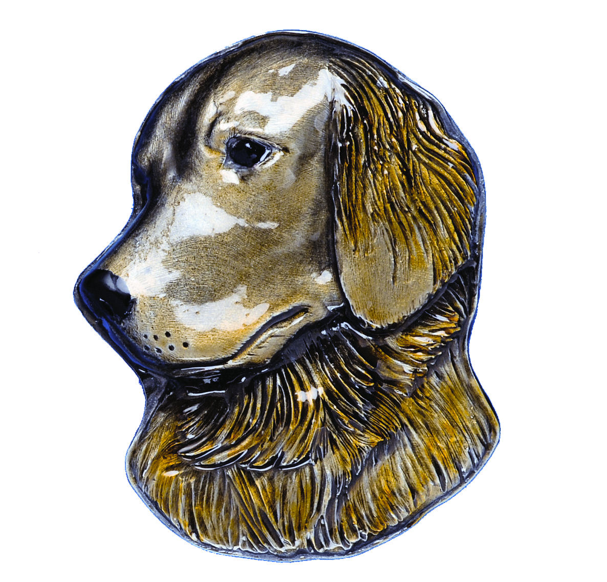 Golden Retriever Dog Head Belt Buckle