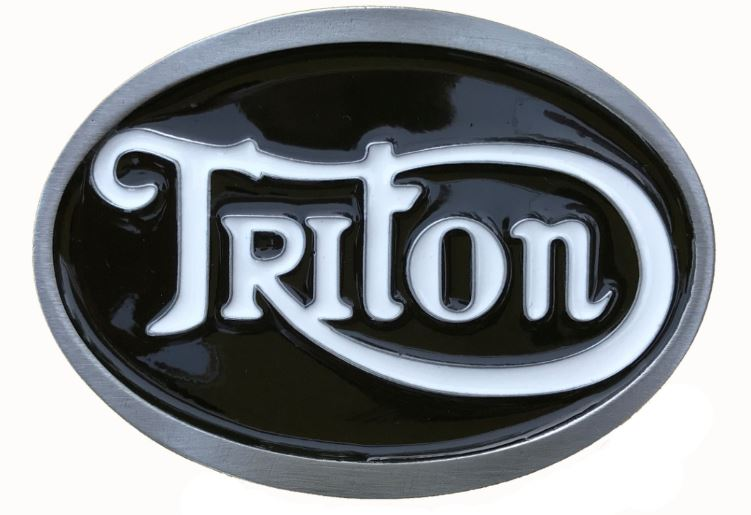 Triton Black - White Belt Buckle