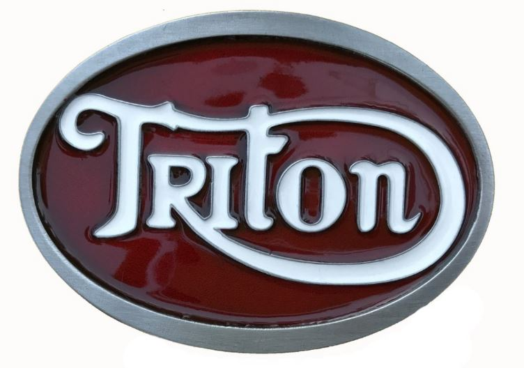 Triton Red & White Belt Buckle