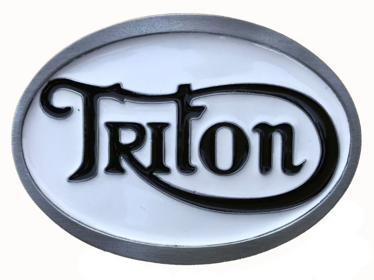 Triton White - Black Belt Buckle