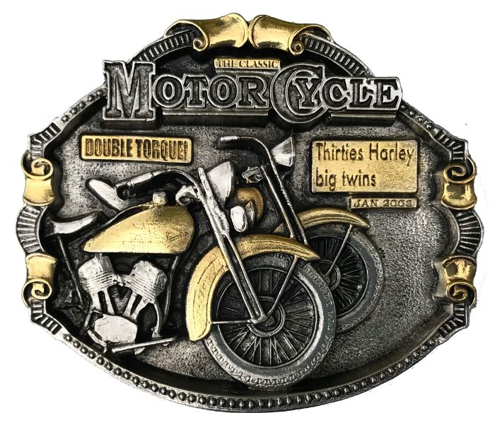 Harley Big Twins Gold & Silver Plated Belt Buckle