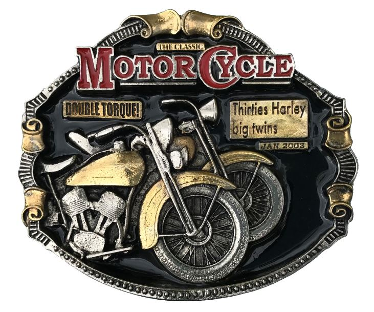 Harley Big Twins Gold & Silver Colour Plated Belt Buckle