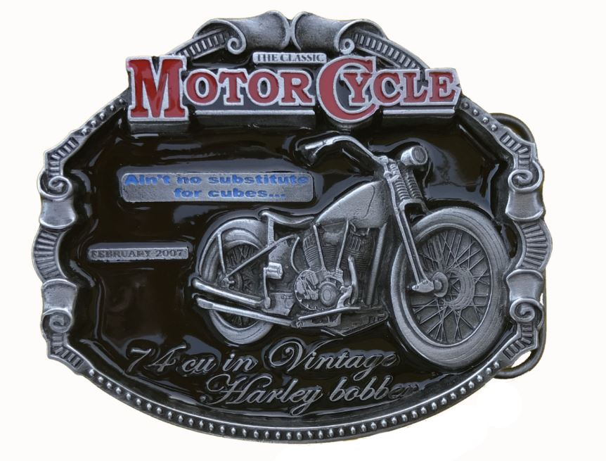 Harley Bobber Belt Buckle