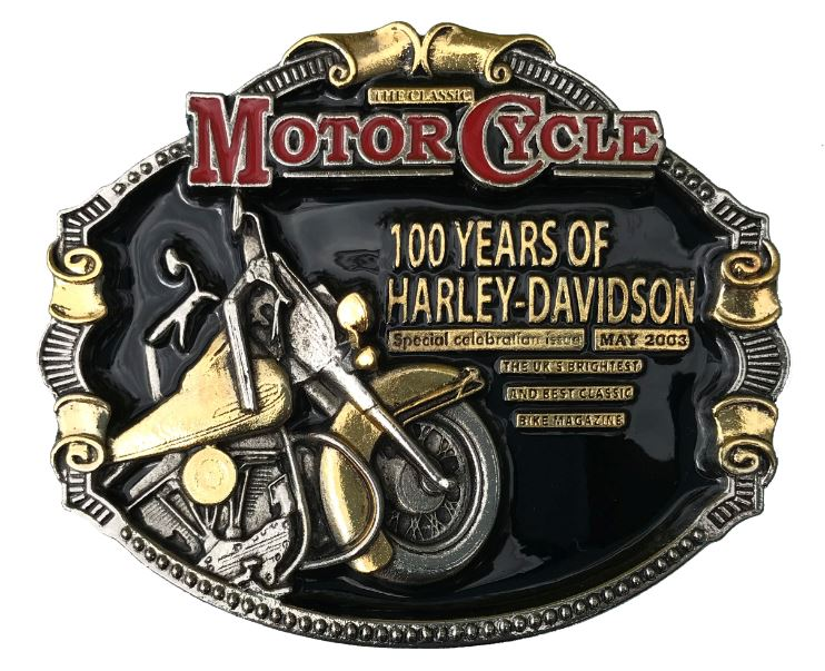 100 Years Of Harley Davidson Gold & Colour
