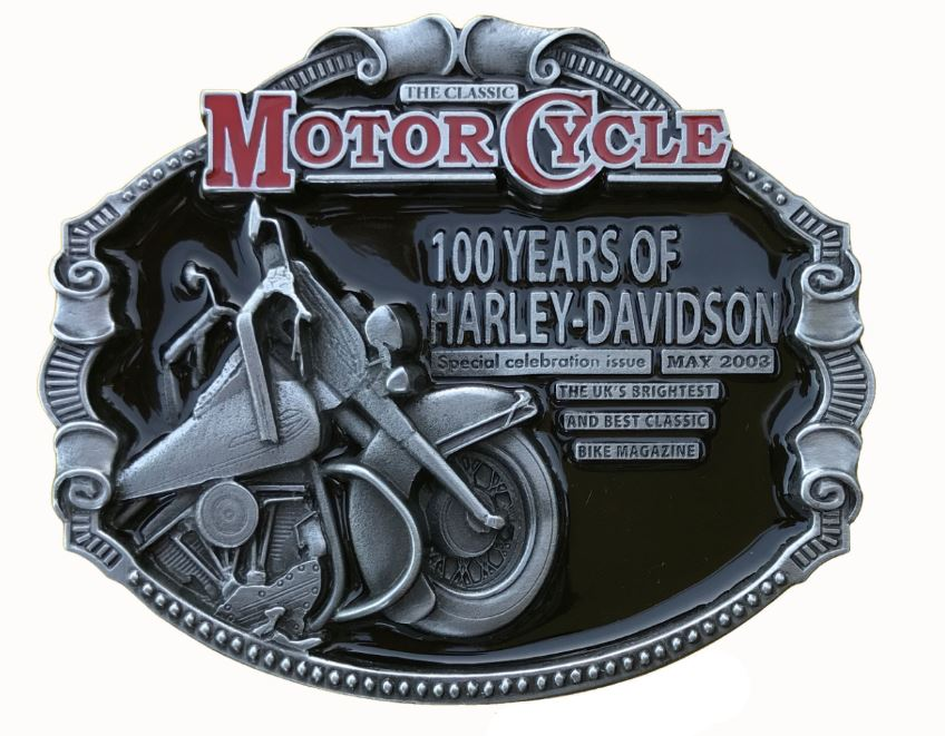 100 Years Of Harley Davidson Belt Buckle