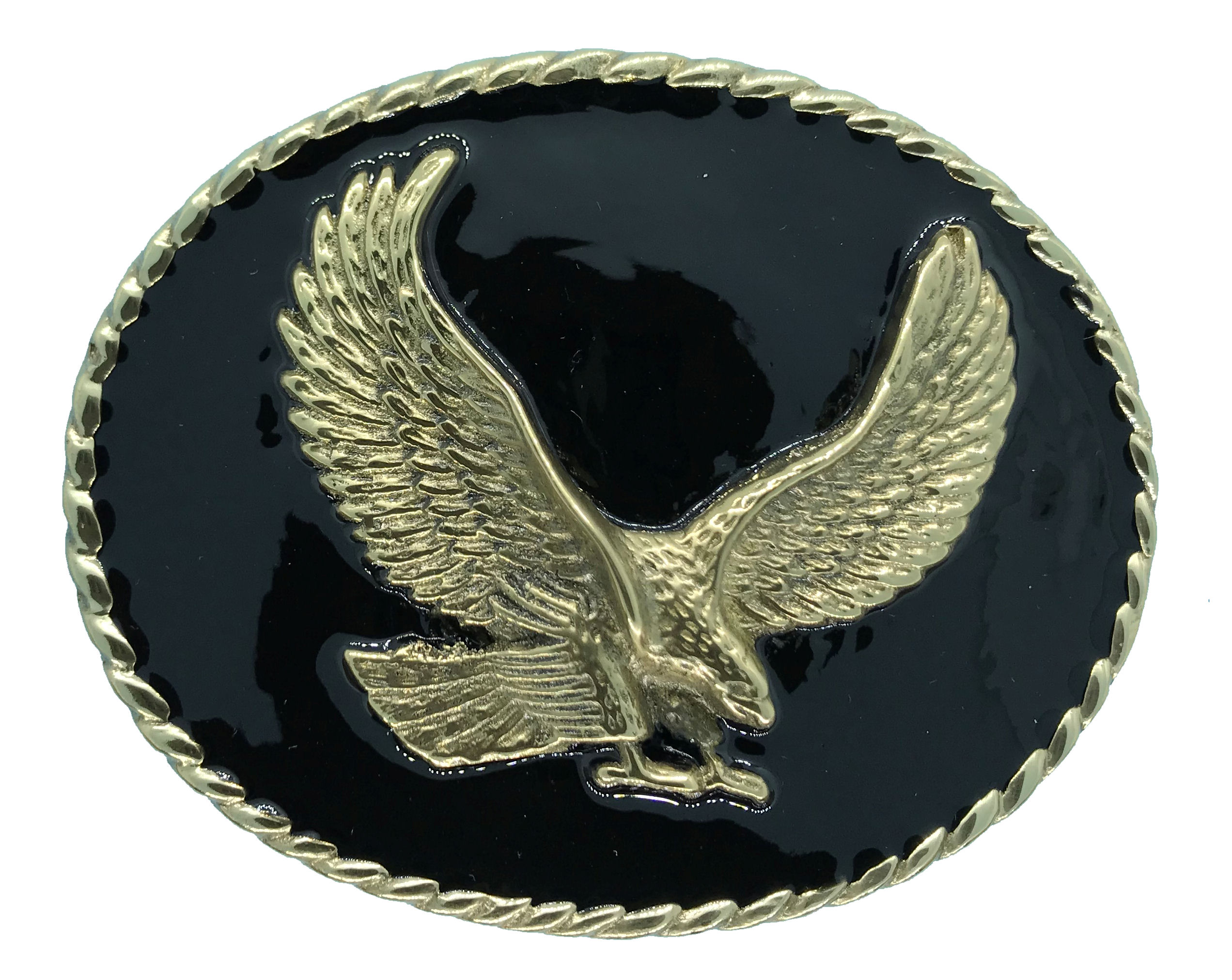 Rodeo Eagle Black Belt Buckle