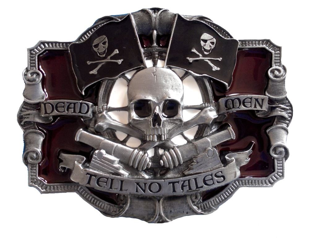 Dead Men Tell No Tales Belt Buckle