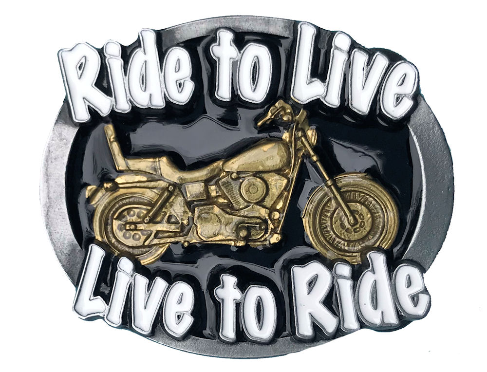 Ride to Live- Live to Ride Black & Gold Range