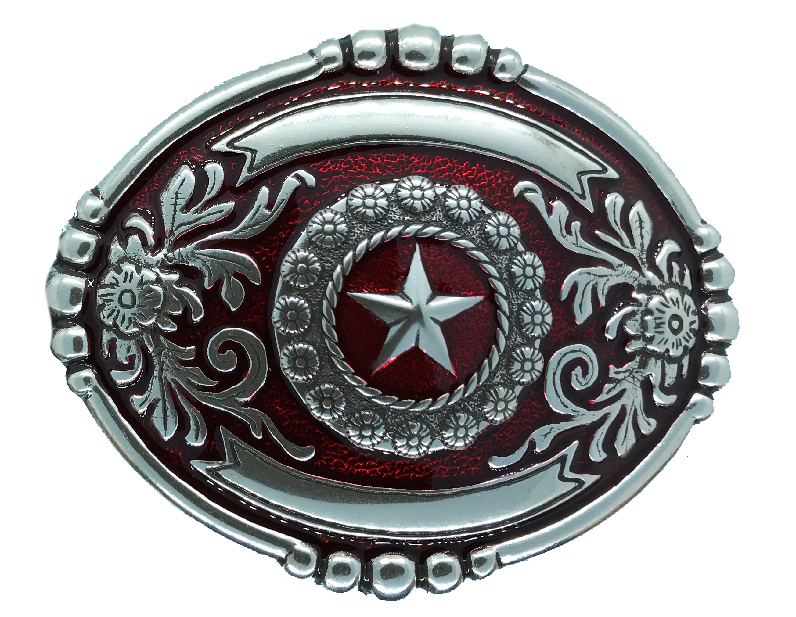 Wrangler Belt Buckle Red