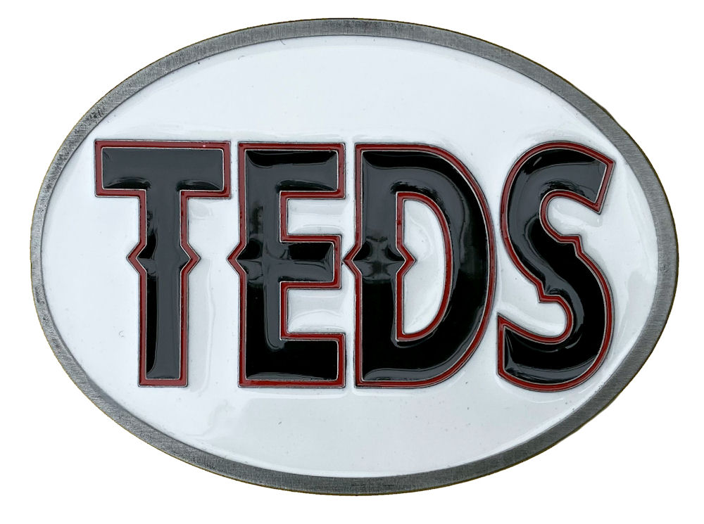 Teds Belt Buckle (Black,Red & White)