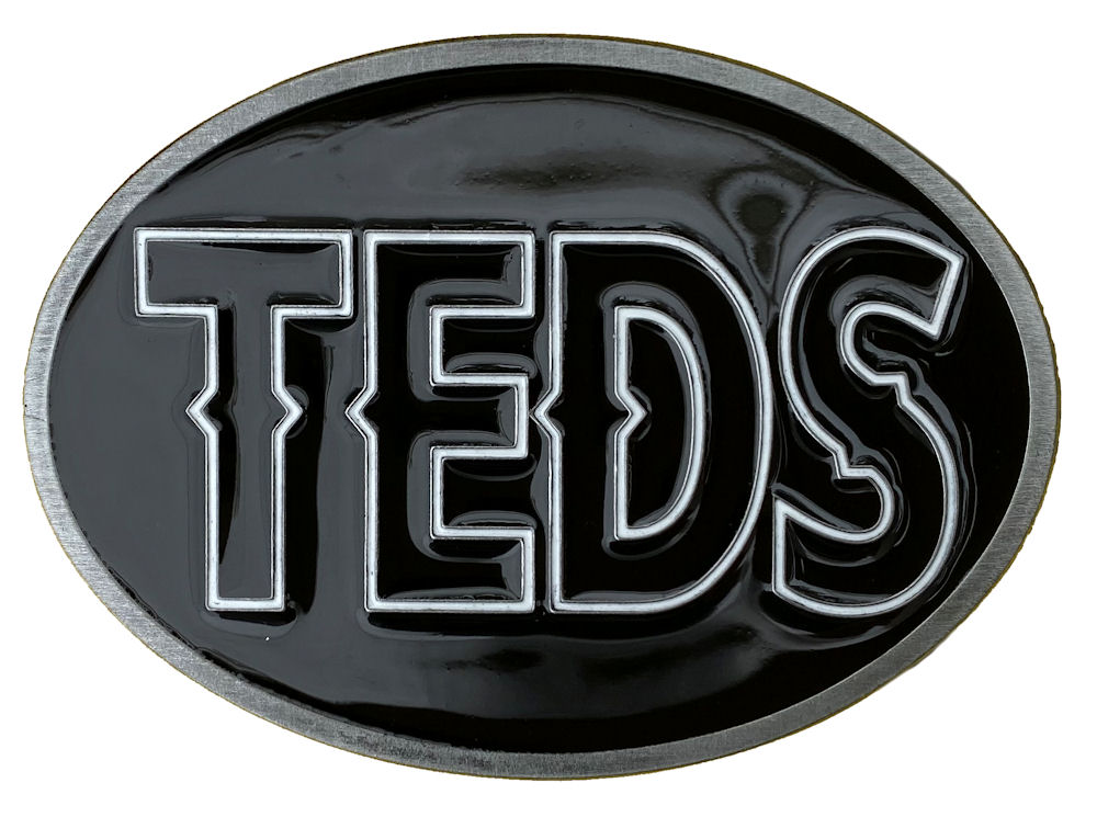 Teds Belt Buckle (Black, White & Black)