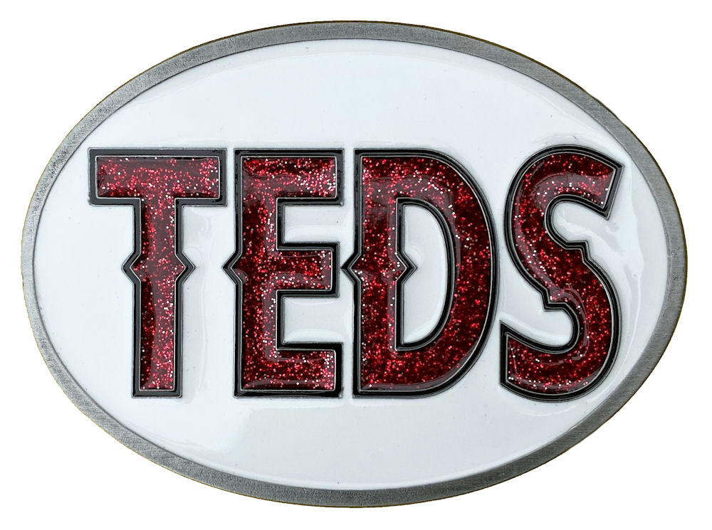 Teds Belt Buckle (Red Glitter)