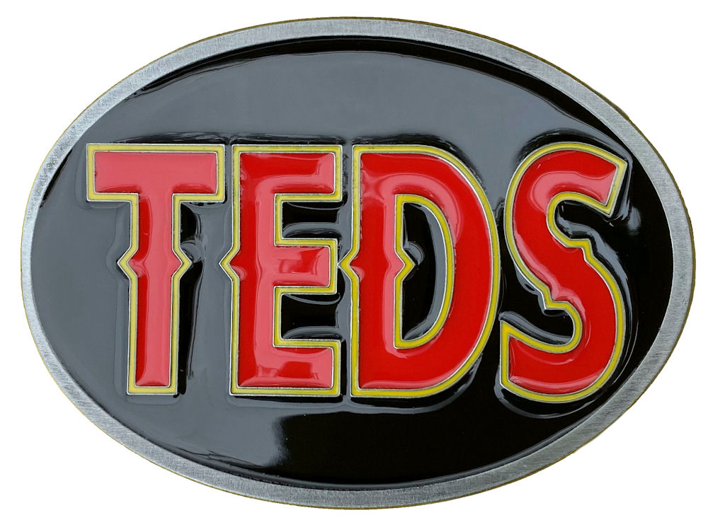 Teds Belt Buckle (Red,Yellow,Black)