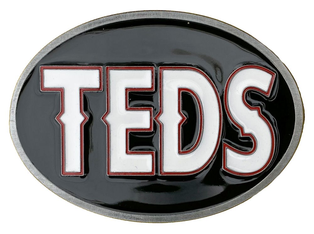 Teds Belt Buckle (White,Red,Black)