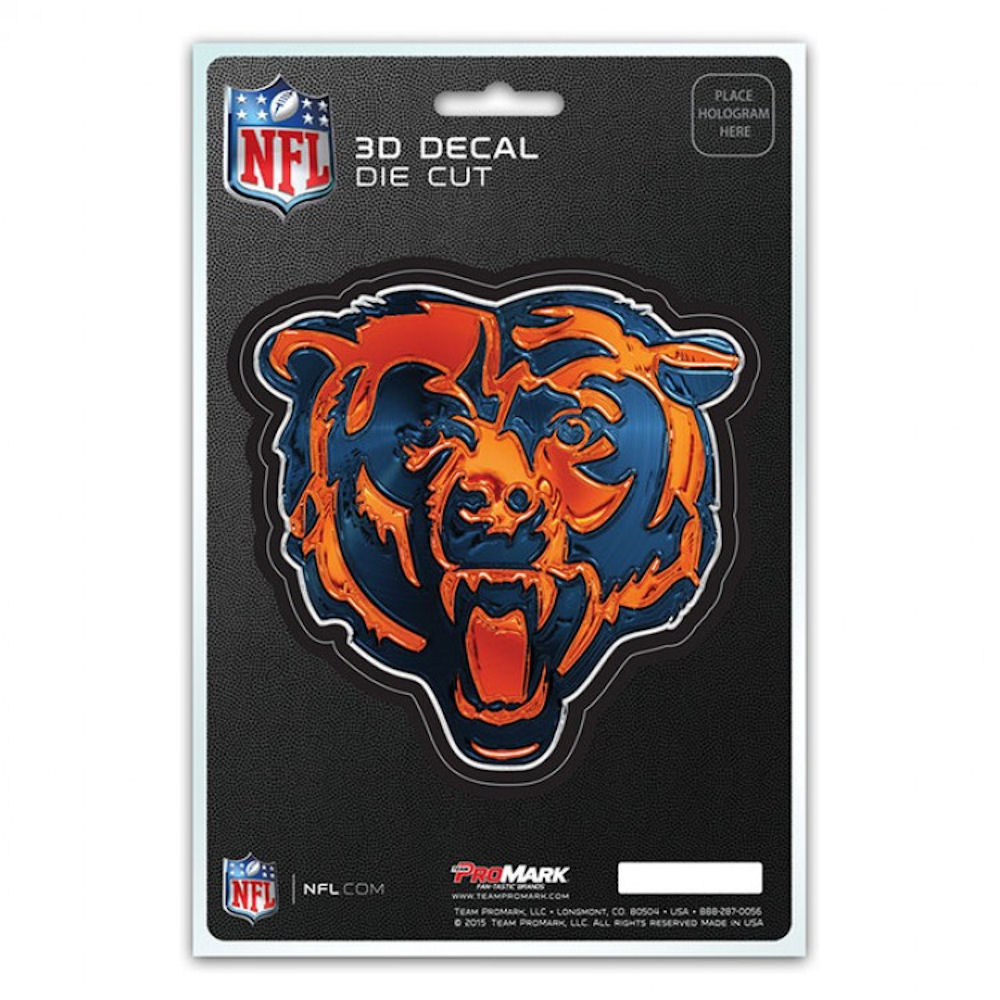 Chicago Bears 3D Decal