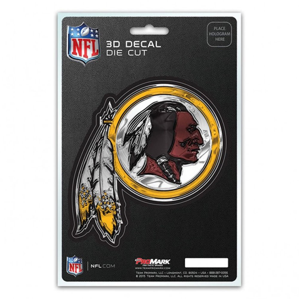 NFL 3-D Decal Washington Redskins