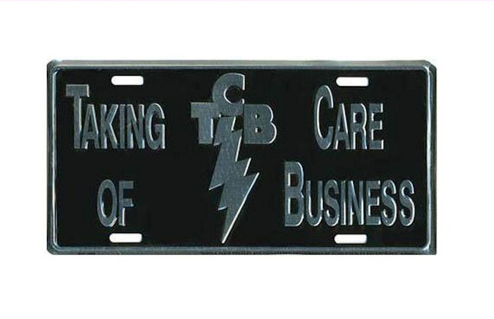 Elvis License Plate TCB