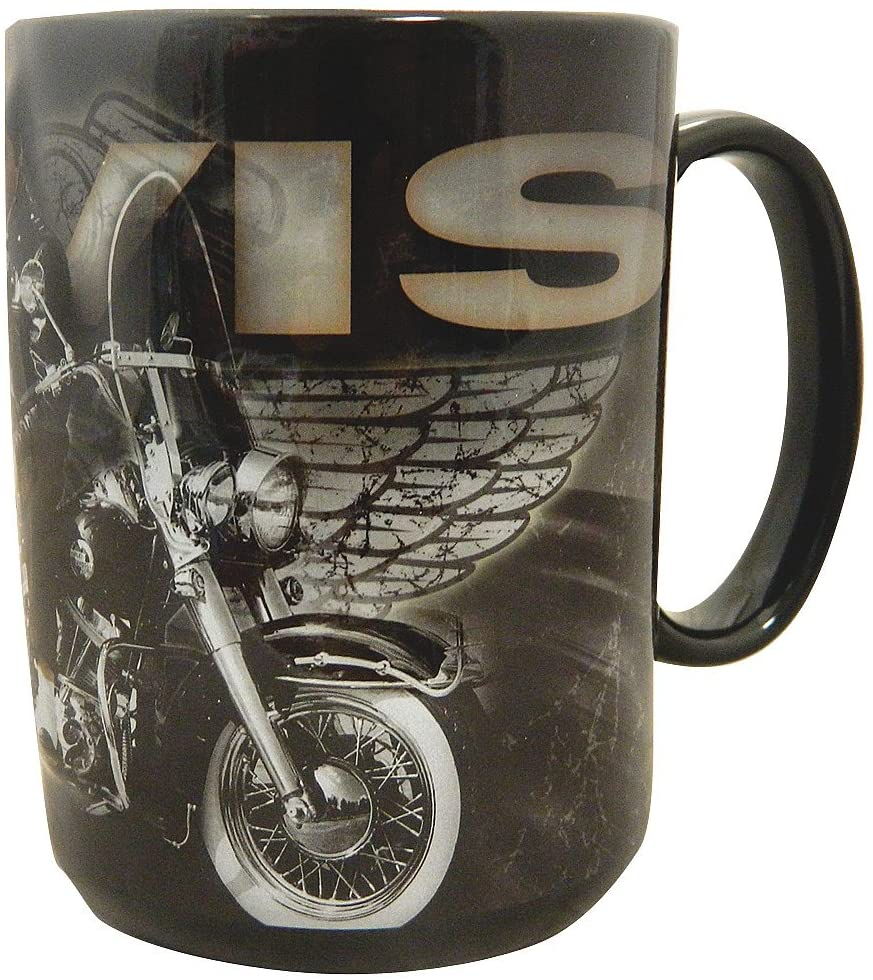 Elvis Presley Embossed Mug With Motorcycle